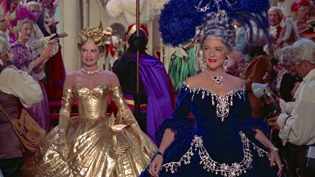To Catch a Thief (1955) film still of the Masquerade Ball at the Sanford Villa in Cannes, South of France
