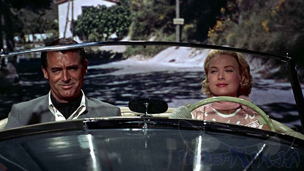 To Catch a Thief (1955) film still of Grace Kelly and Cary Grant in a convertible in the South of France