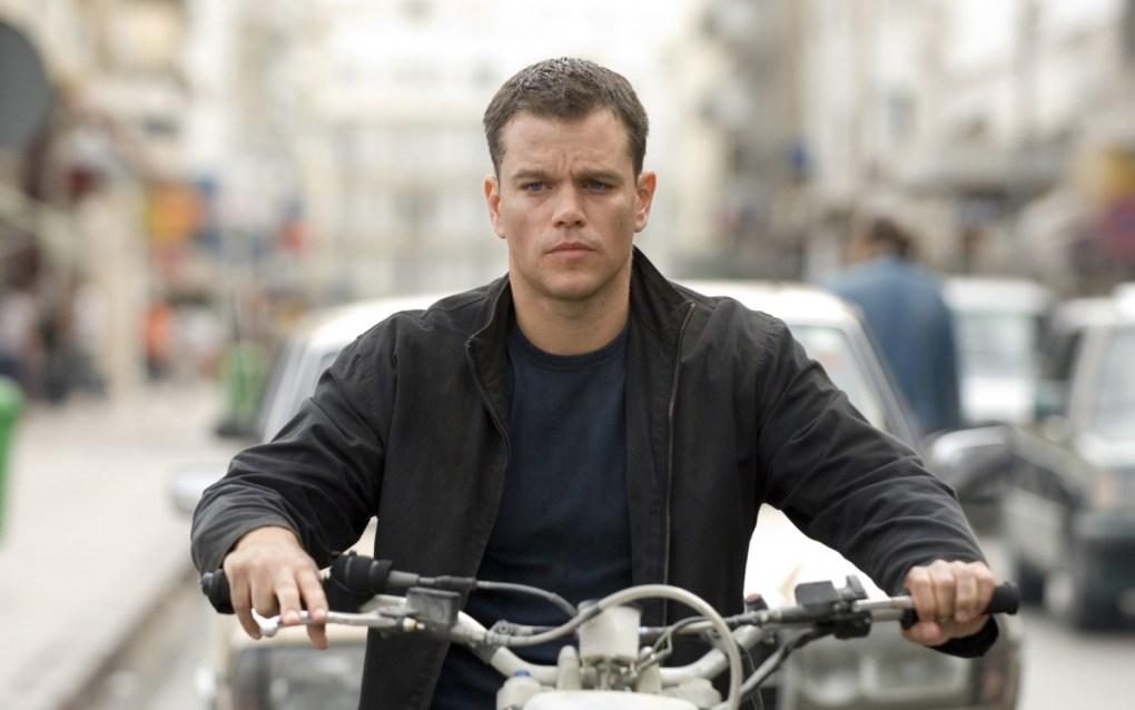 The Bourne Ultimatum (2007) film still of Matt Damon on a motorbike