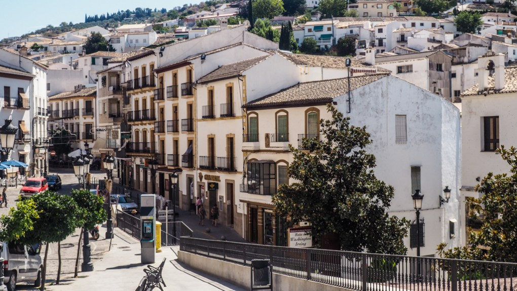 Main street in Montefrío, Granada in Spain