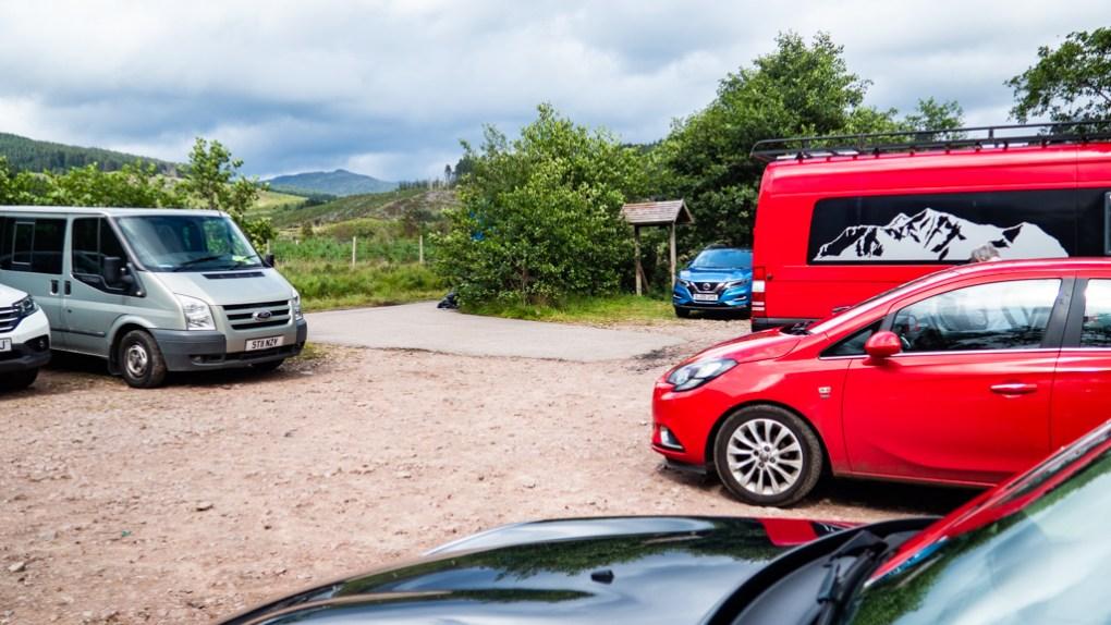 Loch Etive Car Park in Scotland
