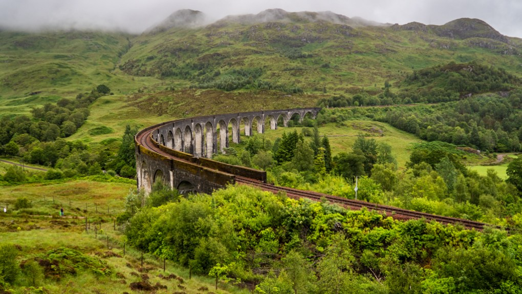 Glenfinnan Viaduct, a Harry Potter Filming Location in Scotland