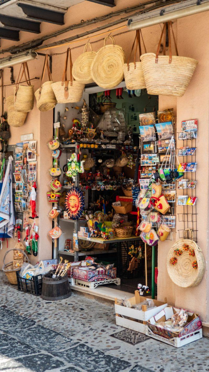 A tourist shop in Cefalù, Sicily