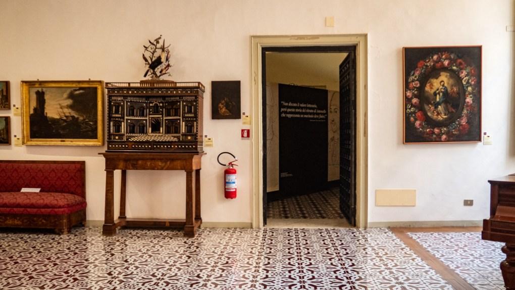 Inside Mandralisca Art Museum in Cefalù, Sicily