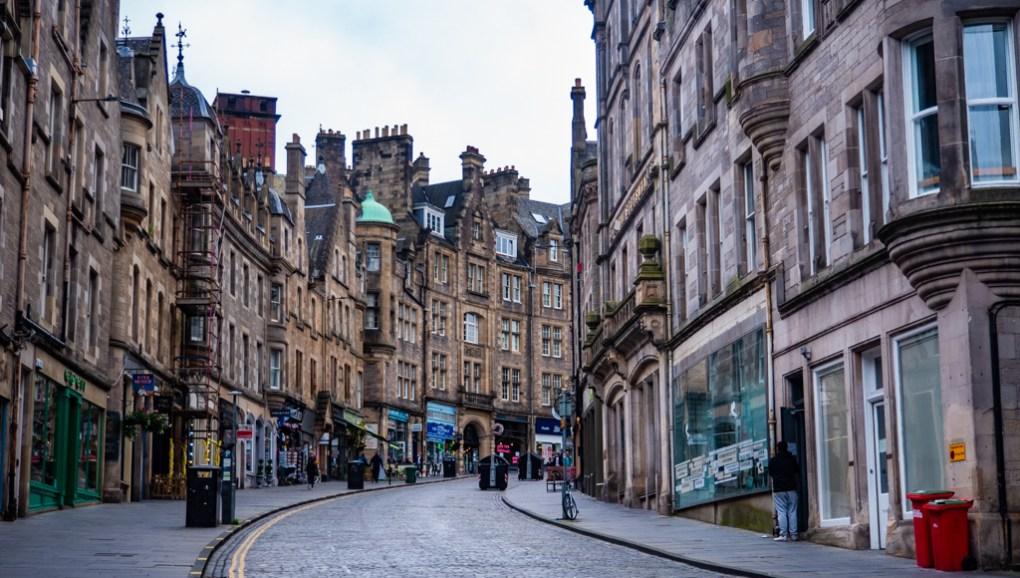 Cockburn Street in Edinburgh, Scotland