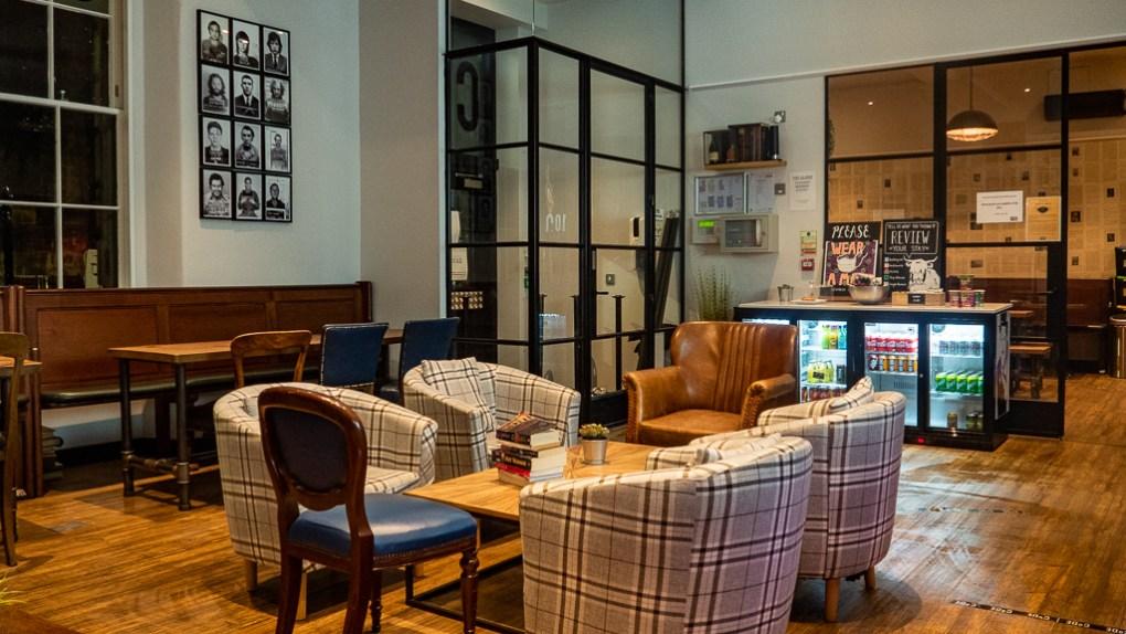 Common room at CoDE Hostel - The Court in Edinburgh, Scotland