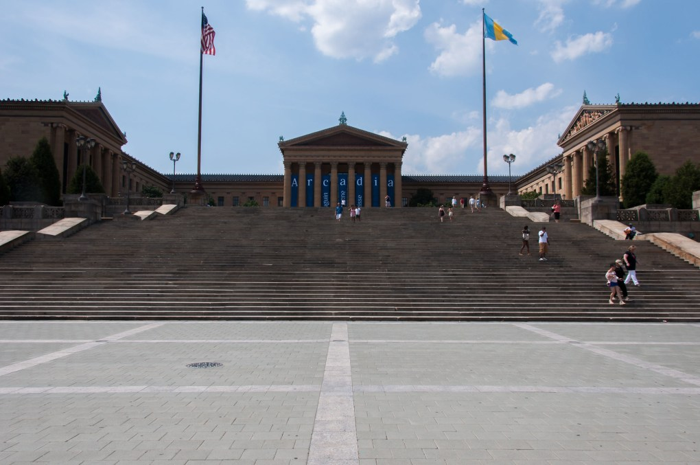 Philadelphia Museum of Art Rocky Steps in Pennsylvania, USA