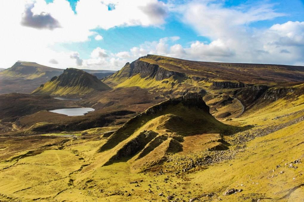 Quiraing Trotternish Ridge on the Isle of Skye, Scotland Highlander Filming Location