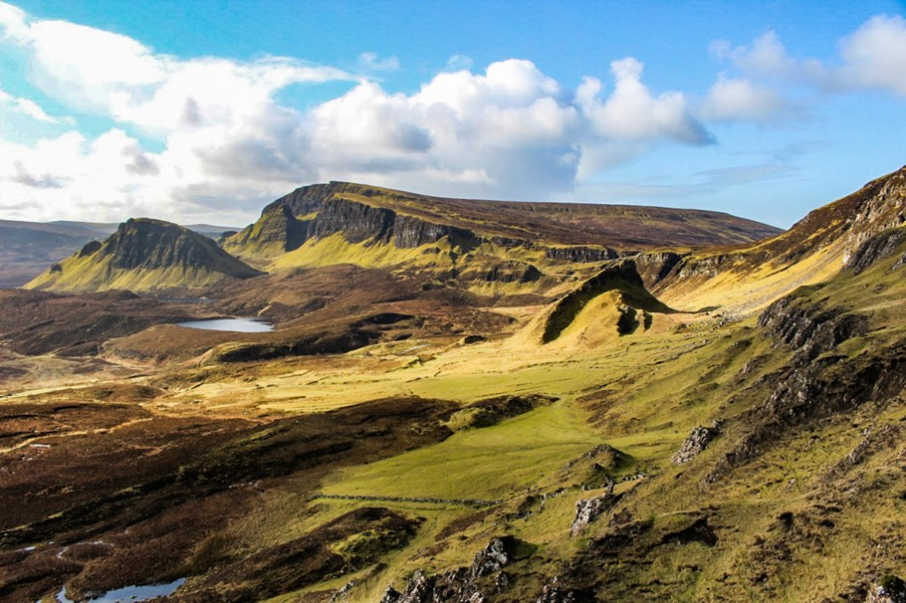 Quiraing on the Trotternish Ridge in the Isle of Skye, Scotland