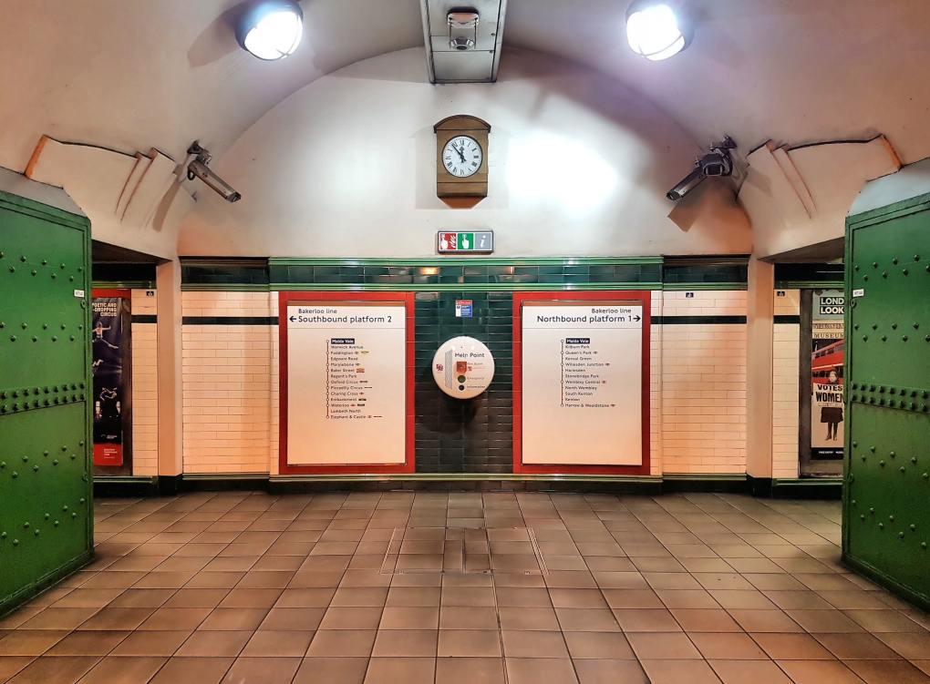 Maida Vale Underground Station in London, England