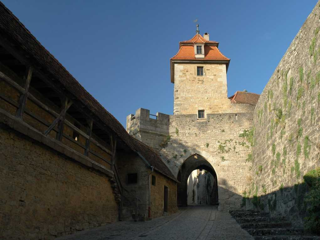 Kobolzeller Tor in Rothenburg ob der Tauber in Bavaria, Germany Chitty Chitty Bang Bang Location