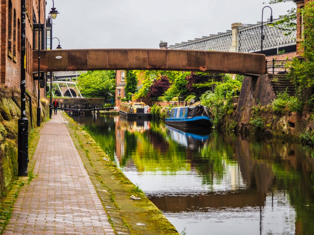 Castle Street Canal in Manchester, UK
