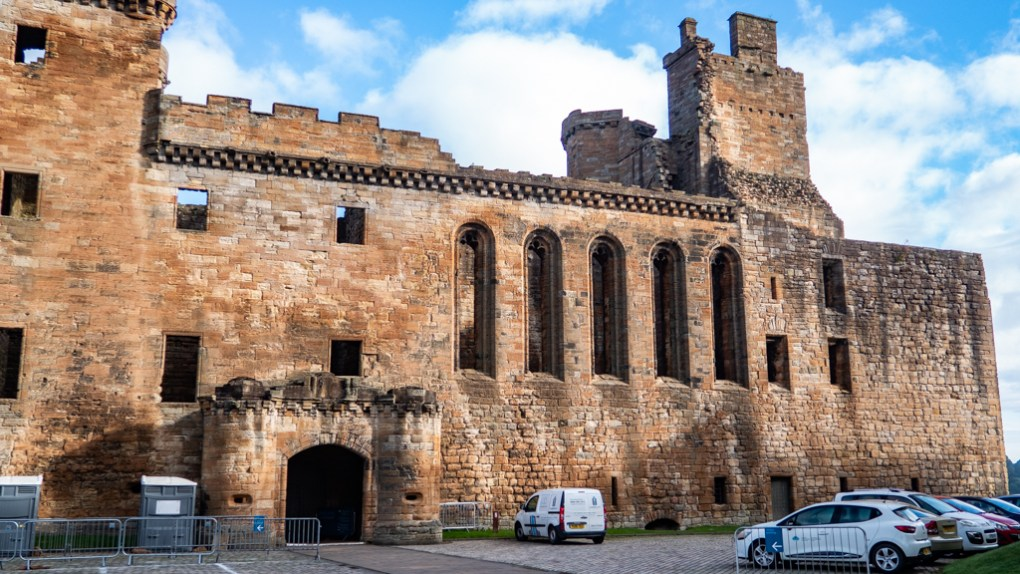 Linlithgow Palace Front Entrance in Linlithgow, Scotland