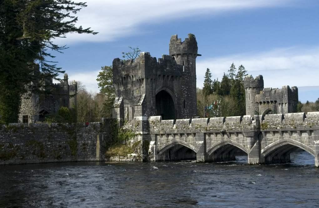Ashford Castle Bridge in County Galway, Ireland The Quiet Man Filming Location