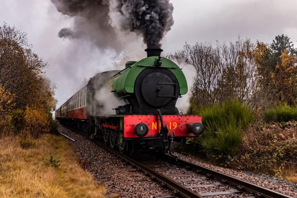 Bo'ness and Kinneil Railway in Scotland