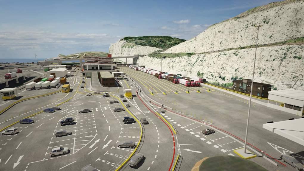 Dover Terminal in England