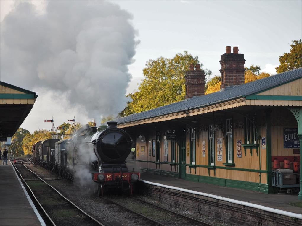 Horsted Keynes Station, Bluebell Railway in England as seen as A Room with a View film location
