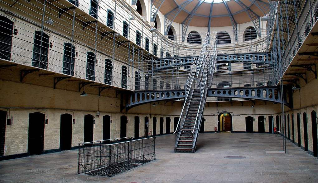 Kilmainham Gaol in Dublin, Ireland as seen in The Italian Job