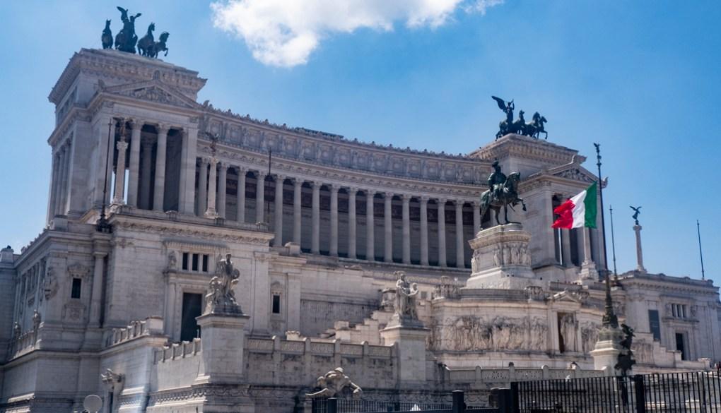 Piazza Venezia in Rome, Italy