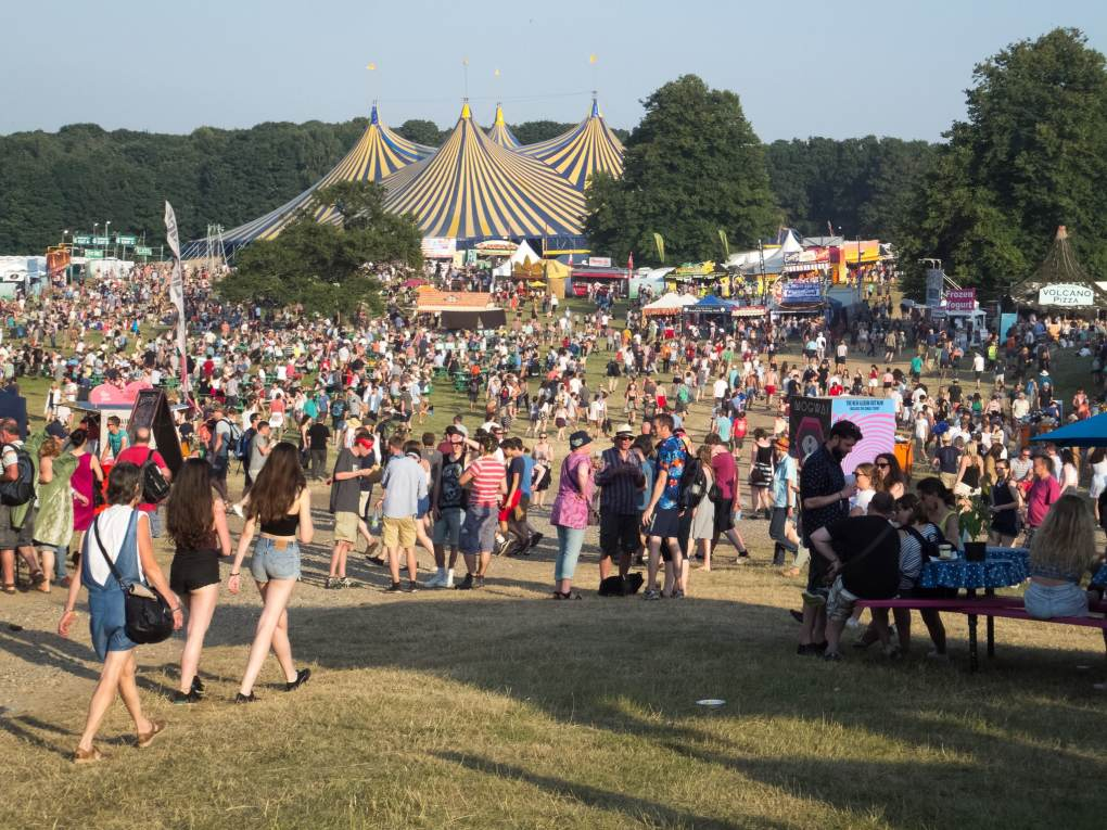 Latitude Festival in Suffolk, England Yesterday Film Location