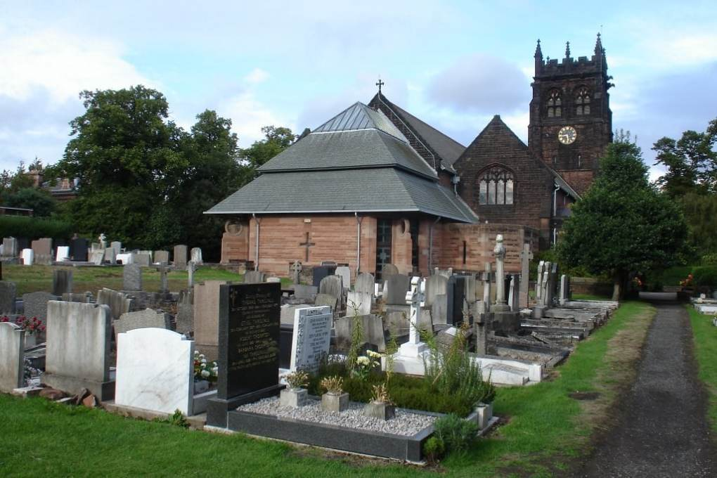 St Peter's Church in Woolton, Liverpool in England
