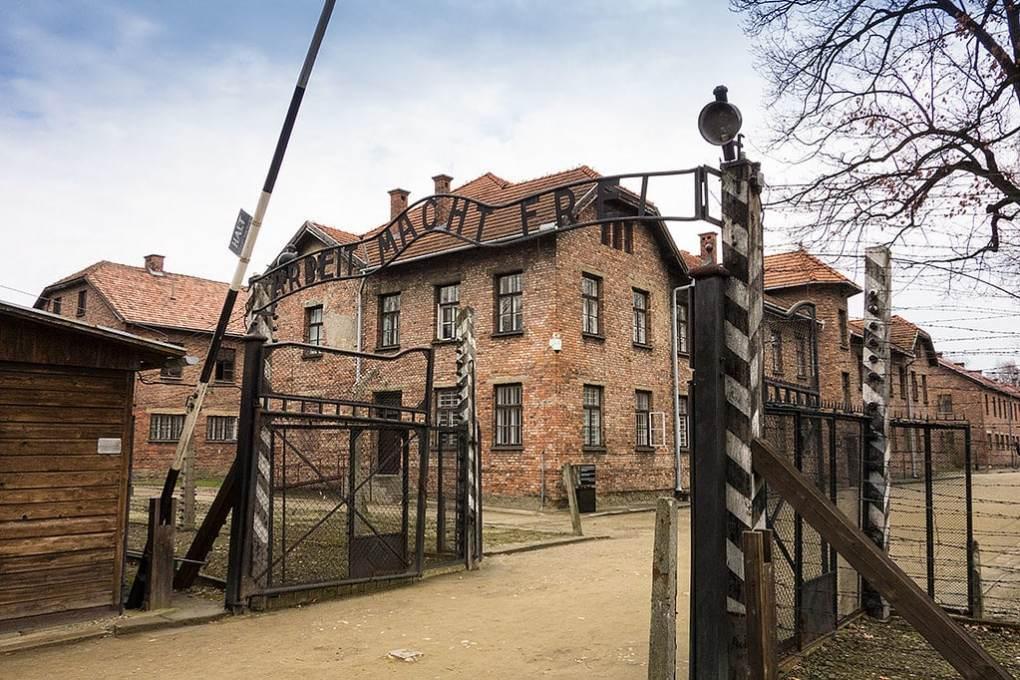 Gates of Auschwitz-Birkenau Camp in Poland