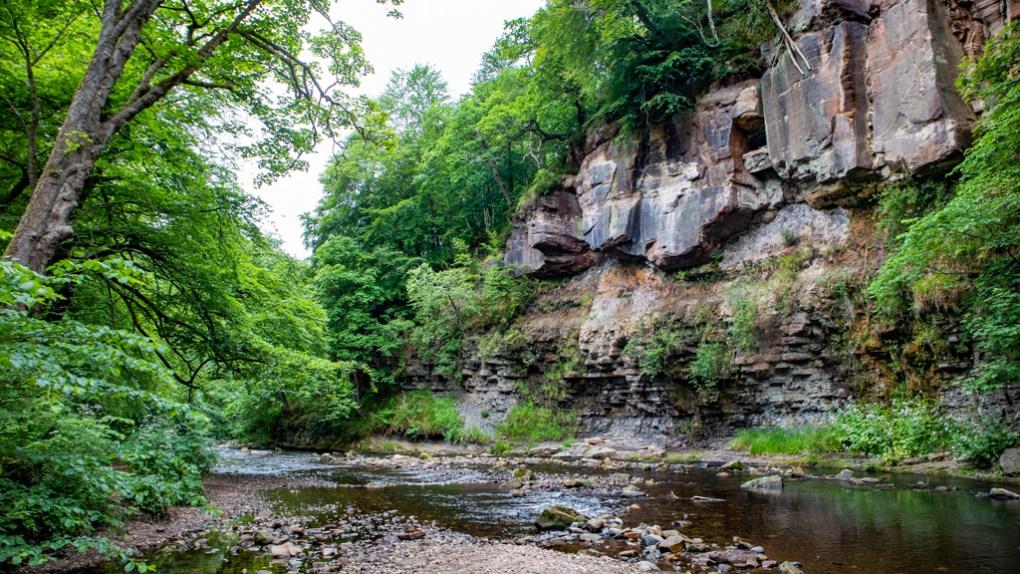 Roslin Glen Country Park in Roslin, Scotland Edinburgh Outlander Location