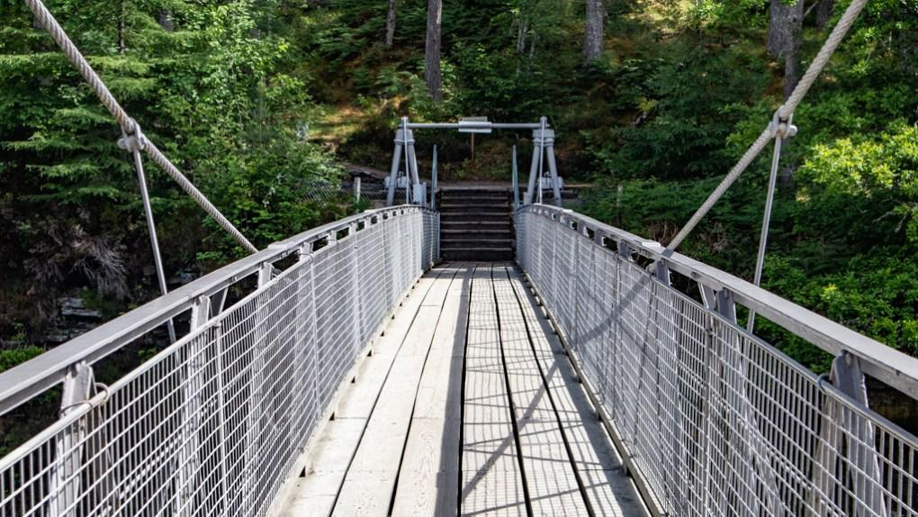Bridge at Corrieshalloch Gorge on the North Coast 500 in Scotland