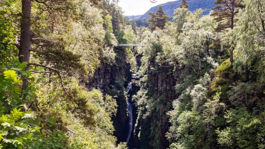 Corrieshalloch Gorge in Scotland