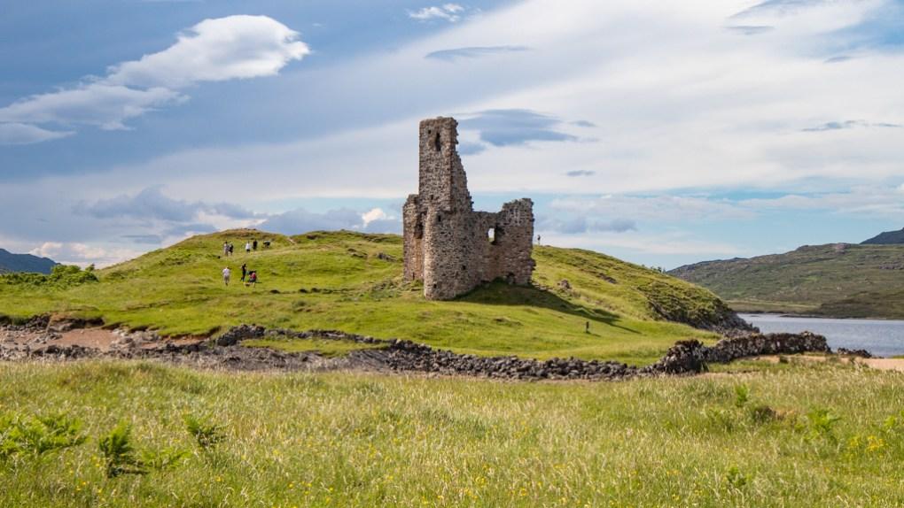 Ardvreck Castle on the North Coast 500 in Scotland