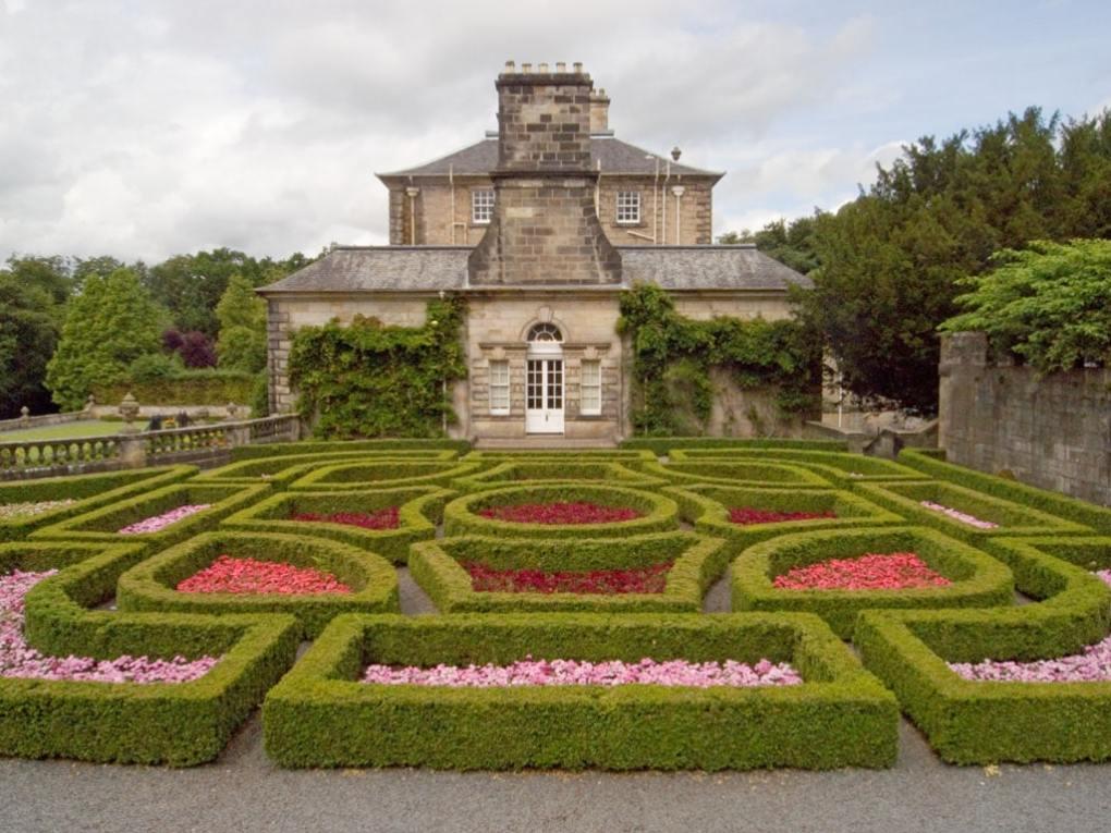 Pollok House Gardens in Glasgow, Scotland