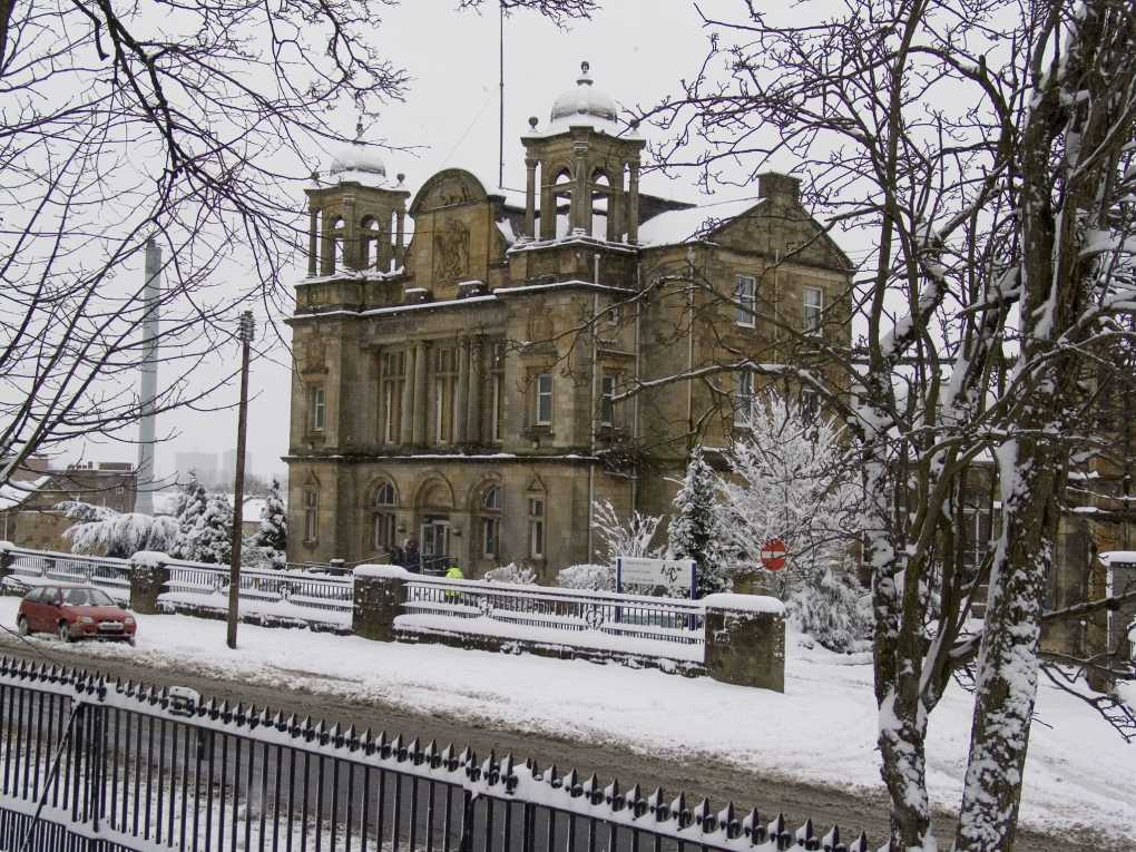 Old Victoria Infirmary in Glasgow, Scotland