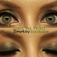 Green Bay Packer Smokey Eyeshadow Look