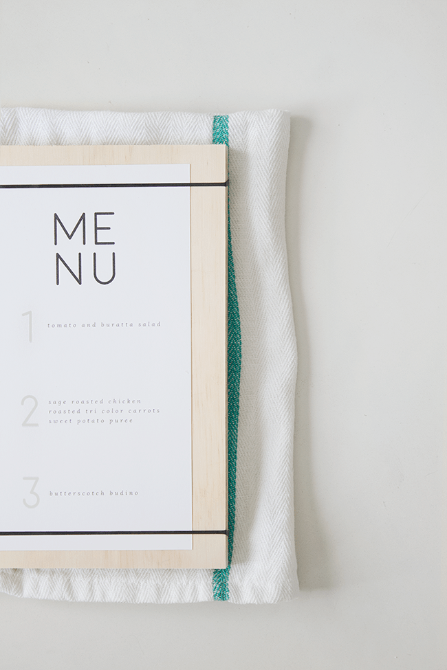 DIY wood + rubber band menus   almost makes perfect