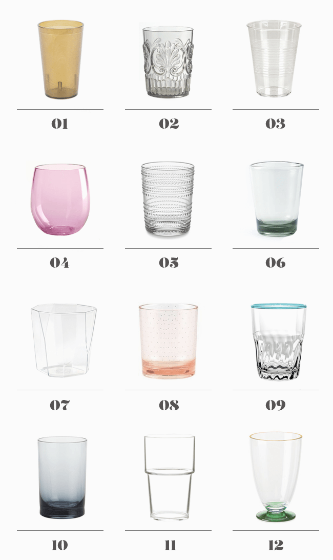 12 modern acrylic glasses | almost makes perfect
