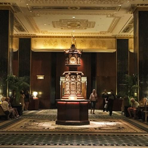 The World's Fair Clock inside the Waldorf Astoria