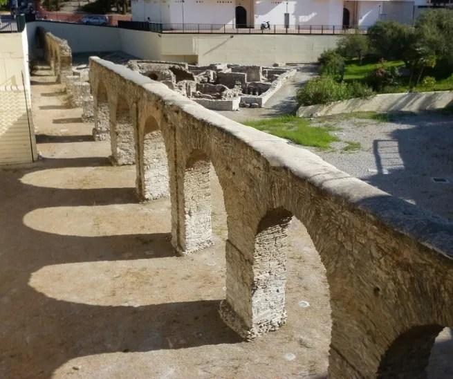 Roman Aqueduct and Roman Baths