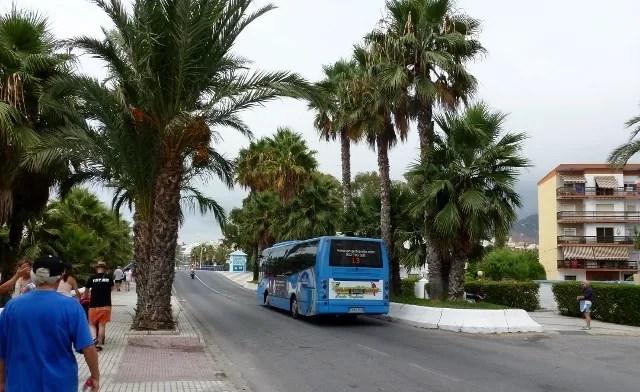 Almuñécar Bus getting around town