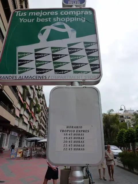 Tropico Express Schedule