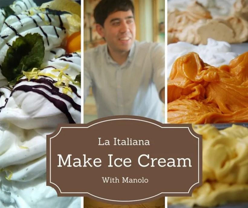 Make Ice Cream with Manolo - La Italiana Cafe Almunecar Spain