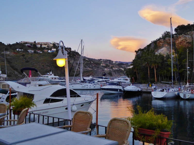 Marina del Este, nestled in a protected cove, between Almuñécar and La Herradura. This area is full of summer fun with many activities year-round as well. Read more on Almunecarinfo.com