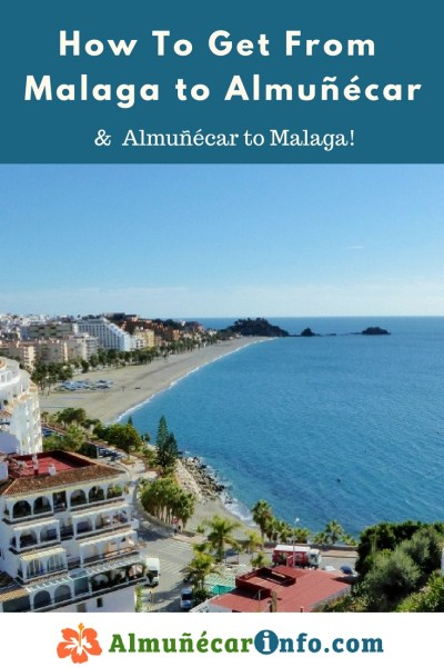How To Get From Malaga To Almuñécar. There are many transportation options for getting from Malaga to Almuñécar.  To help facilitate your journey, below you will find a listing along with directions and maps.  The travel time can vary based on mode of transportation chosen as well as time or day of the week.  The Malaga airport code is AGP, click here for more Malaga Airport Information.  We will help you with driving to Almuñécar, taking the bus to Almuñécar, and other transportation options. Read more on AlmunecarInfo.com