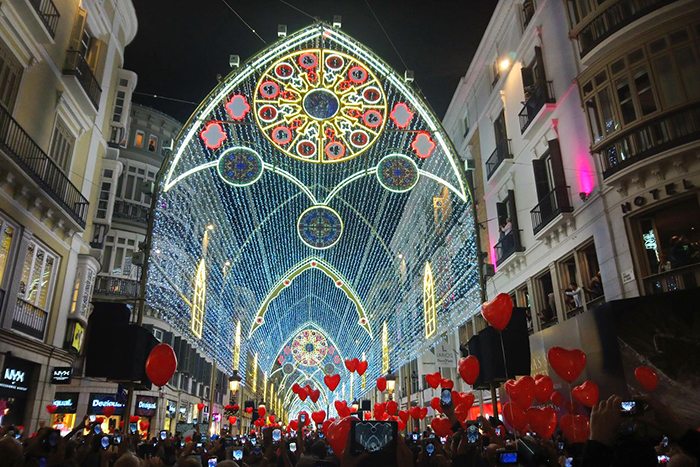 Malaga Christmas lights 2017