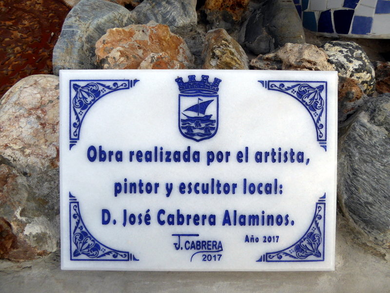 Almuñécar's mosaic artist,  D. José Cabrera Alaminos, should be very proud of his work and we look forward to seeing more.  Experience Stunning Mosaic Art Along Playa Puerta Del Mar Almuñécar. A photo walk of the mosaic art along the paseo Puerta del Mar Almuñécar, Spain. What were once ordinary cement benches, are now beautiful works of art. Read more on Almunecarinfo.com