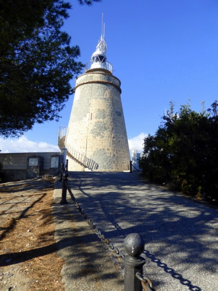Spectacular views of Almunecar from the Faro de La Herradura - La Herradura lighthouse on Punta de la Mona.