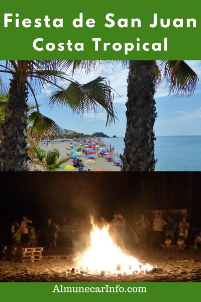 Fiesta de San Juan In Costa Tropical. Fiesta de San Juan In Costa Tropical is something to experience! It is a beach party full of music, dancing, food, drinks, bonfires and camping. Including Almuñécar, La Herradura, Salobreña and Lanjarón. Read more on Almunecarinfo.com