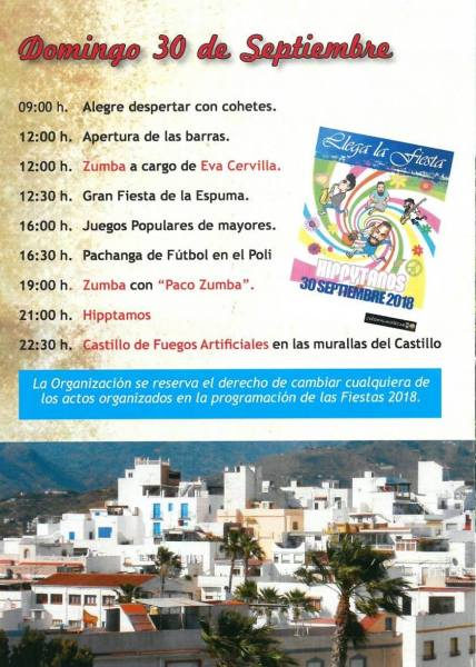 At the end of September we are always in for a treat with theFiestas de San Miguel, in the barrio del Castillo Almuñécar! Up high on the hill in old town, near the castle, the streets come alive for 3 days and nights.