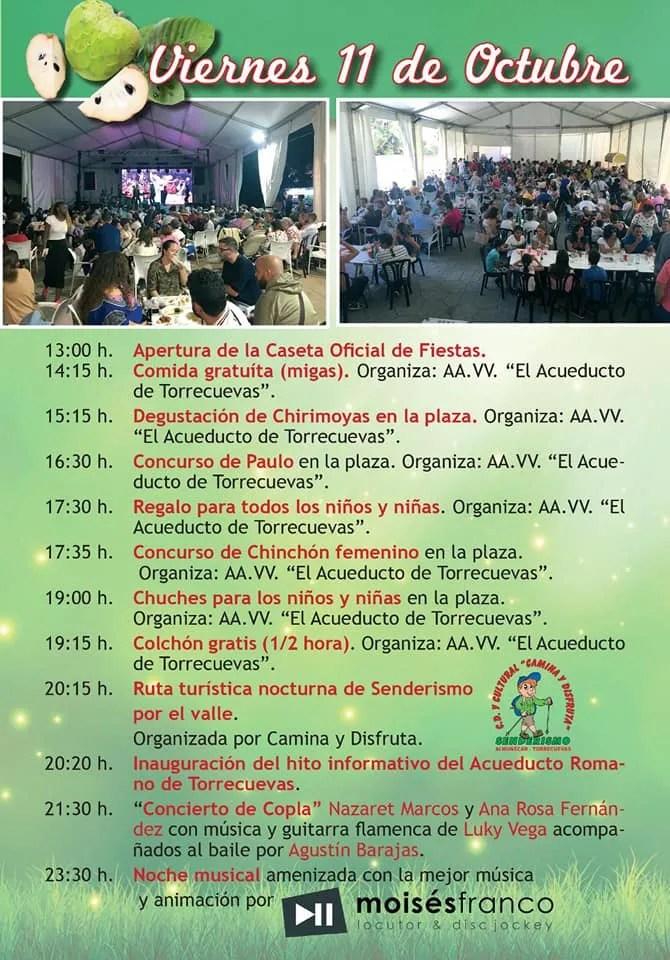 Fiestas Torrecuevas Almuñécar hosts the Fiestas de la Chirimoya. 4 days of celebrating the chirimoya (custard apple), activities, food, music & more.