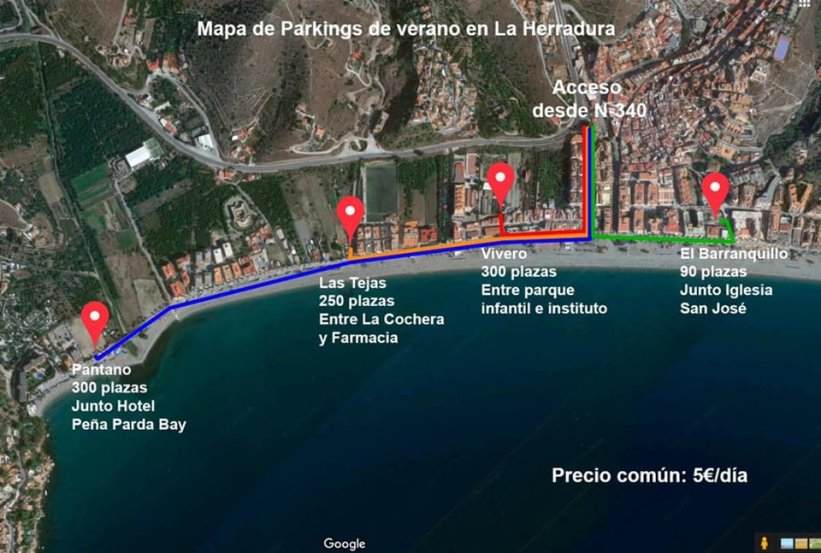 La Herradura Summer Parking