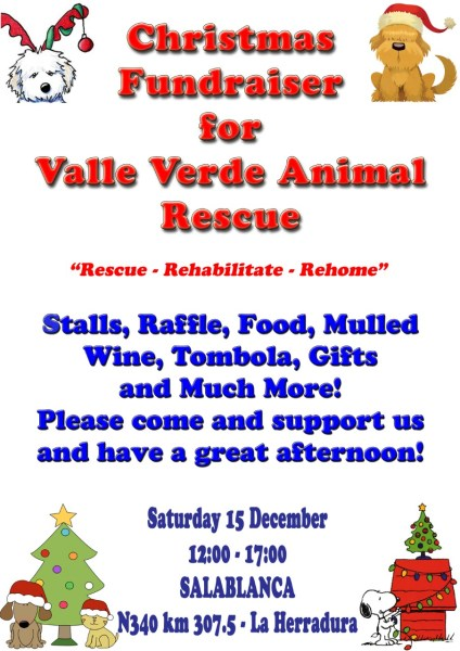 Valle Verde Animal Rescue Christmas Fayre fundraiser. December 15, 2018